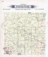 North Fork Township, Brooten, Halvorson's Lake, Stearns County 1896 published by C.M. Foote & Co